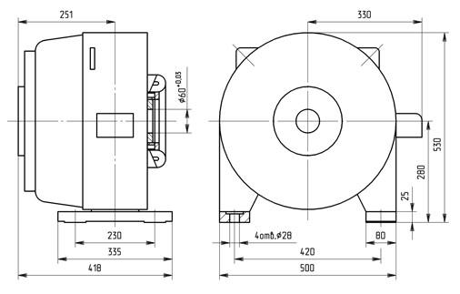 Генератор 4ГПЭМ-15 размеры, габариты