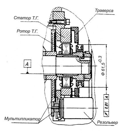 Электродвигатель постоянного тока с резольвером, конструкция