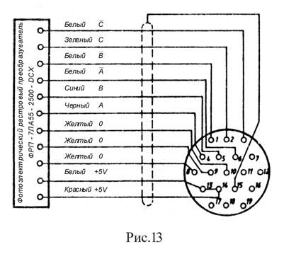 Схема подключения пульскодера электродвигателя постоянного тока
