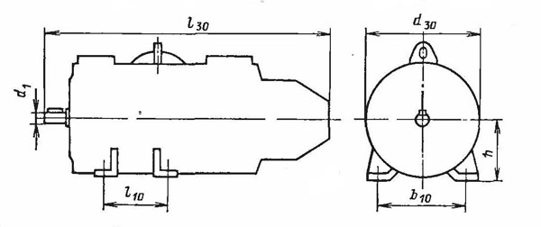 Электродвигатель ПБСТ на лапах IM1001