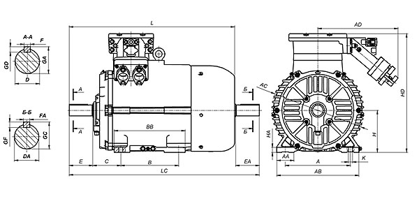 Рудничные взрывобезопасные электродвигатели ВРА132