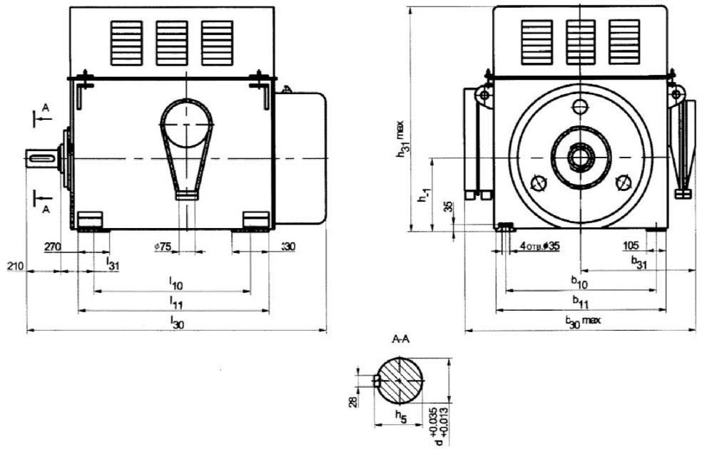электродвигатель AK4 габаритные размеры