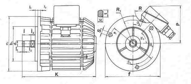 Электродвигатели А размеры
