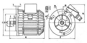 Размеры электродвигателей К производства Болгарии