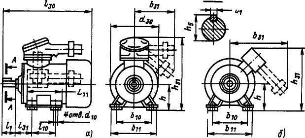 Электродвигатель ВАО на лапах
