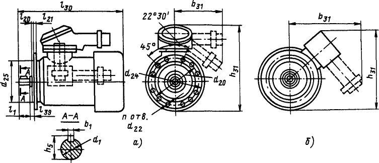 Электродвигатель ВОА фланцевый