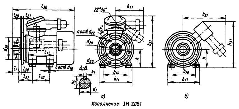 Электродвигатель ВАО (лапы+фланец)