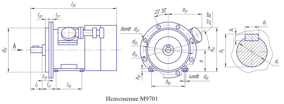 Электродвигатели ВАО2 IM9701