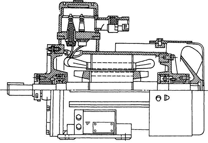 Электродвигатель ВАО в разрезе