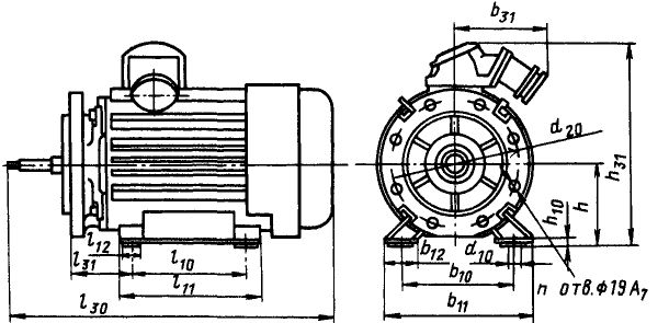 Размеры электродвигателей ВАОМн