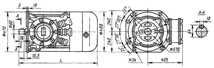 Зазмеры электродвигателей ВАСО22, 30 и 37