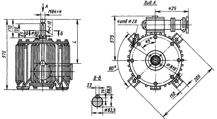 Зазмеры электродвигателей ВАСО