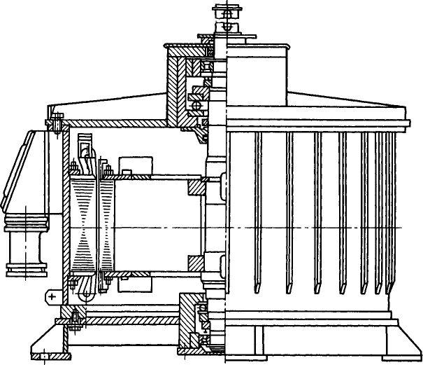 Электродвигатель ВАСО7 в разрезе