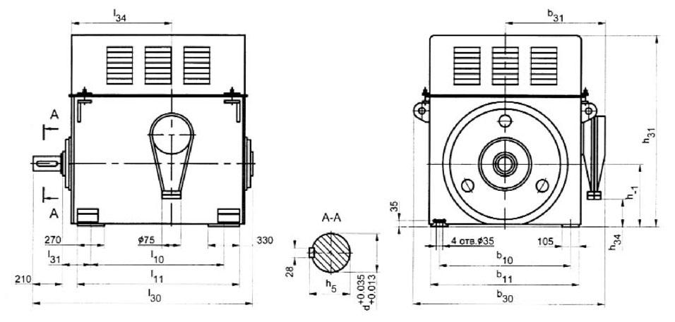 Размеры двигателей А4 6000В