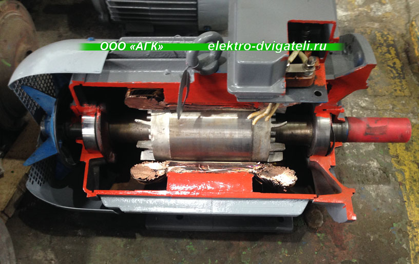 Содержание меди в электродвигателях