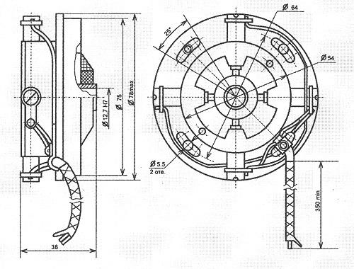 Тахогенератор ТП75, ТП80